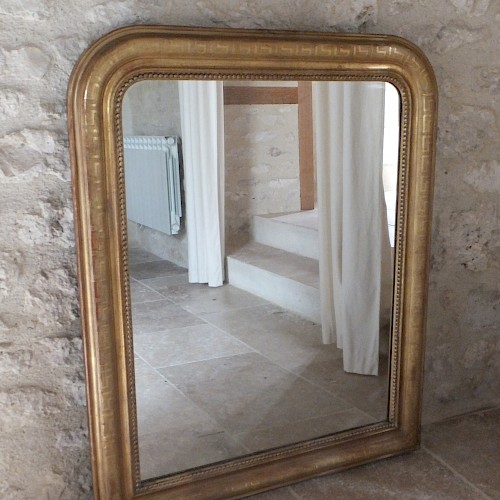 French Antique Water Gilded Mirror