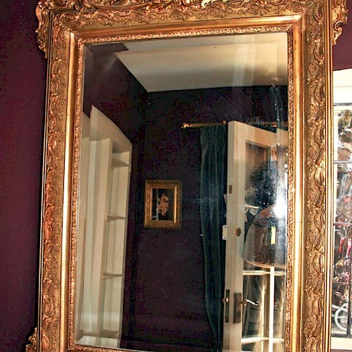 Magnificent French Gilt Mirror 1900 with Bevelled Glass