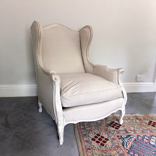 A Pair of Wing Back French Bergere