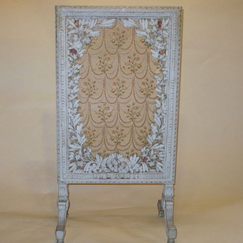 French Antique Fire Screen 1900