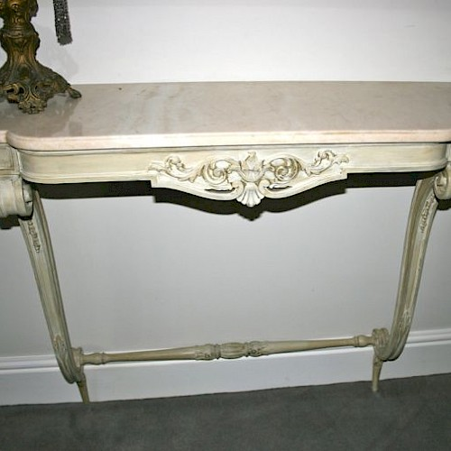 French Marble Console Table