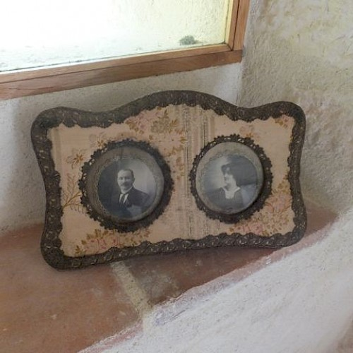 19th Century French Handmade Passementerie Photograph Frame.