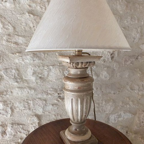 Small Lamp Custom Made From An Old French Balustrade
