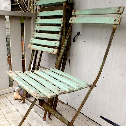 French Folding Cafe Chairs