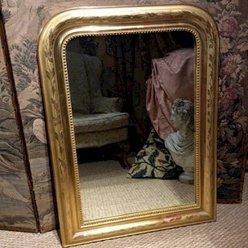 A19th century French Over Mantle Mirror 1880