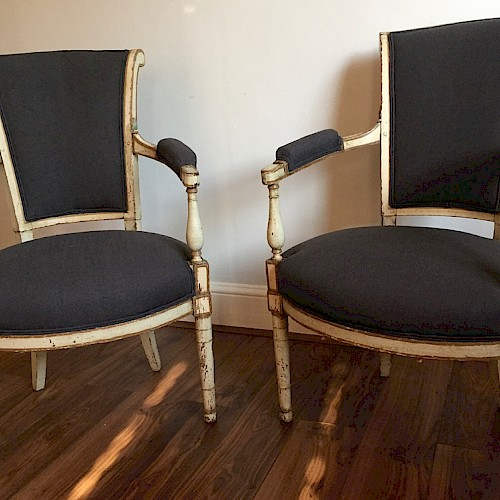 French late 18thC Directoire Chairs
