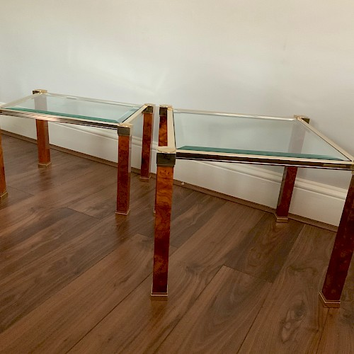 A pair of French 1970''s Pierre Vandel Side Tables