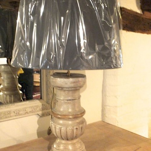 Customised Lamp made from an antique balustrade