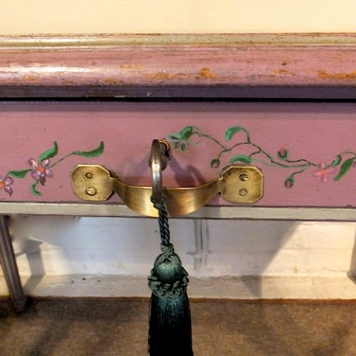 Painted French Writing Table
