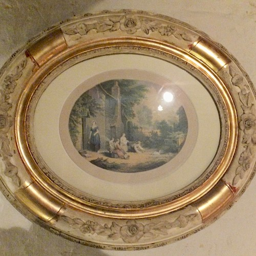 A Pair of Oval Picture Frames containing Le Blond Prints