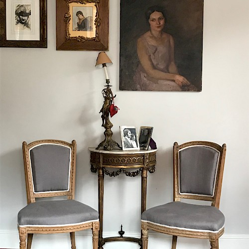 A Pair of Antique French Side Chairs 1890